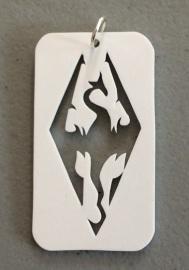 Finished shrink plastic Akatosh pendant