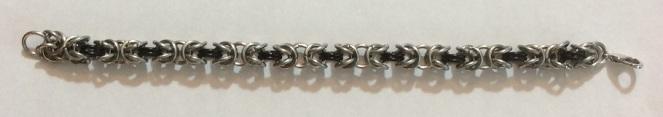 Chain maille Byzantine weave bracelet
