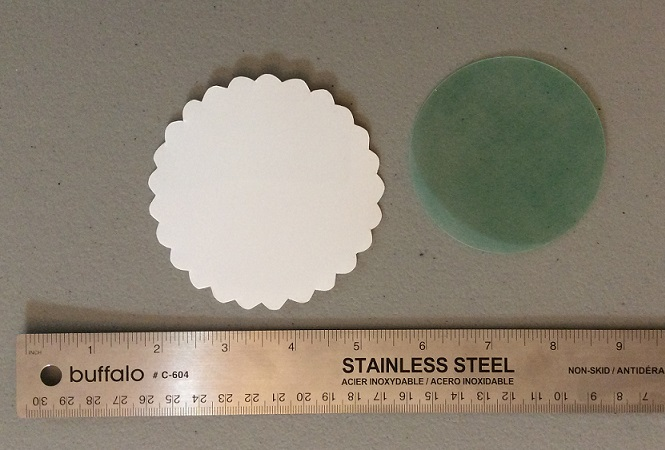 Cameo circles before shrinking
