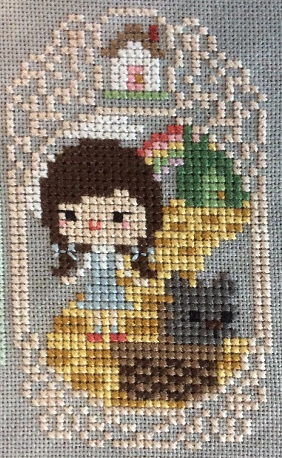 Cross stitch of The Wizard of Oz