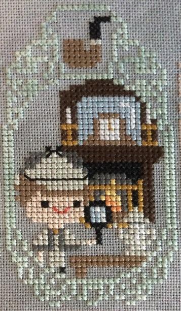 Cross stitch of Sherlock Holmes