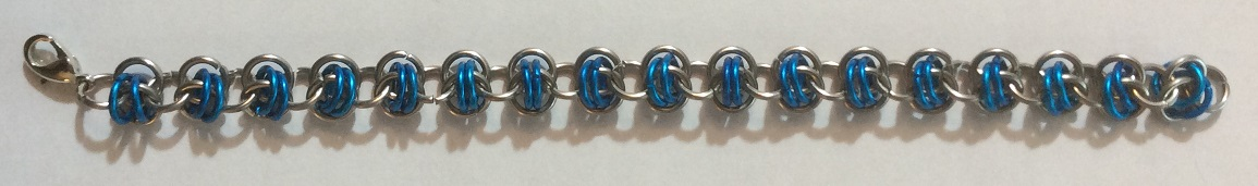 Chain maille bracelet Rhinos Snorting Drano