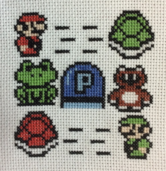 Super Mario Bros 3 cross stitch