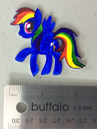 Shrink plastic Rainbow Dash after shrinking