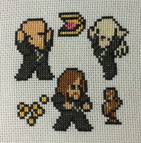 Skyrim Thieves' Guild cross stitch
