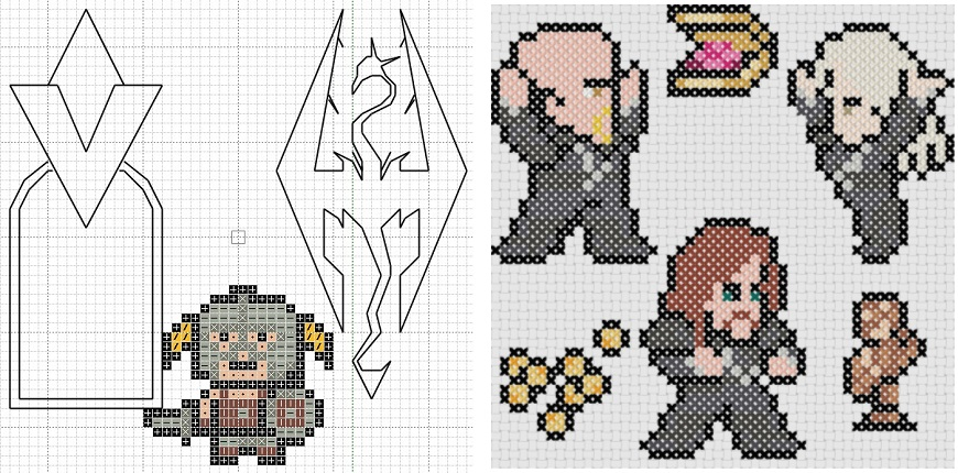 Skyrim stitch-a-long patterns