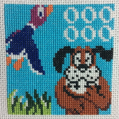 Duck Hunt cross stitch square