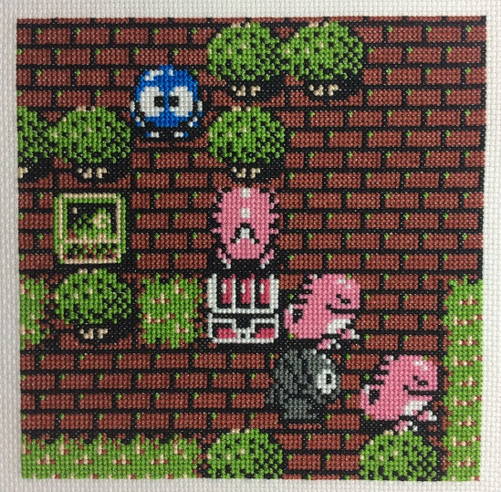 Cross Stitch scene from Adventures of Lolo 3