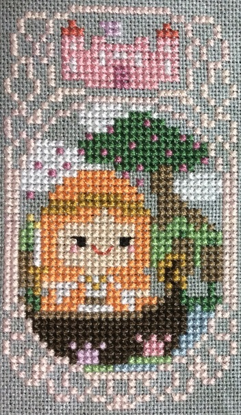 Cross stitch Lady of Shallot