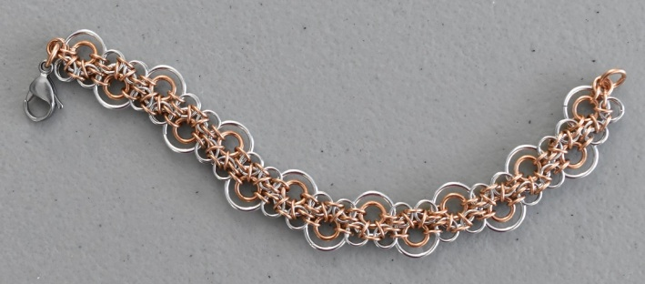 Infinity weave chainmaille bracelet