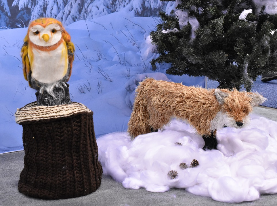 Knit/Crocheted Owl and Fox
