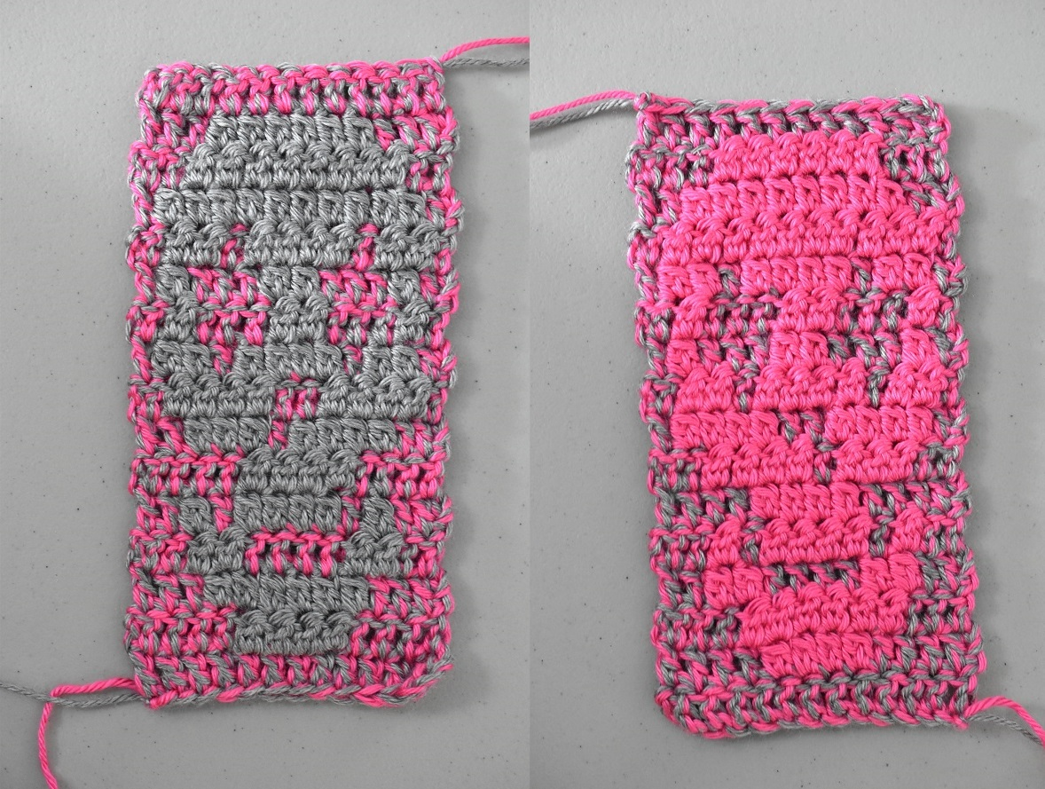 Reversible crochet skull