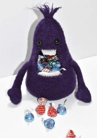 Crocheted candy monster