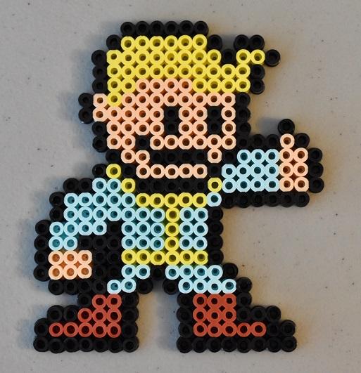Perler bead vault boy