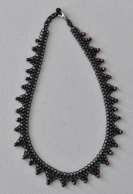 Beaded European 4-1 chain mail necklace