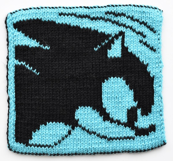 Double knit Sonic the Hedgehog square