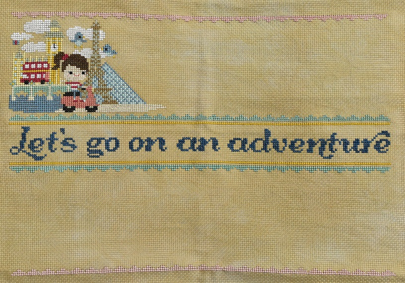 Let's go on an adventure cross stitch