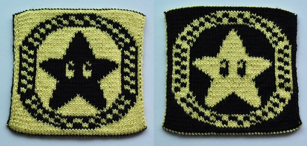 Mario Kart double-knit star