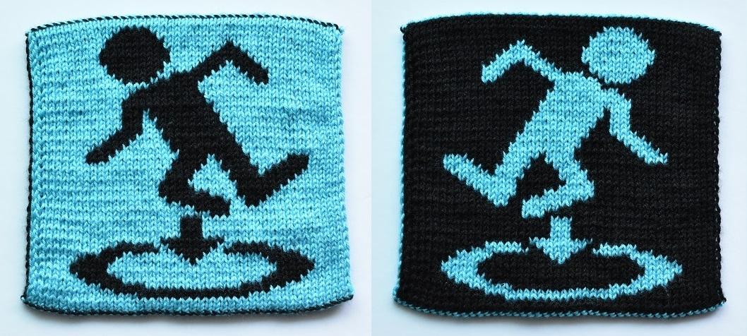 Double-knit portal symbol
