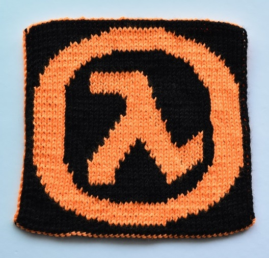 Back of double knit Half Life 2 square