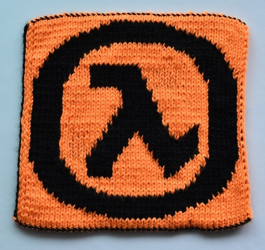 Front of double knit half life square
